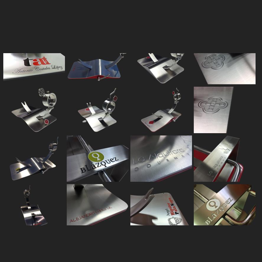 Personalización jamoneros de diseño de Steel O
