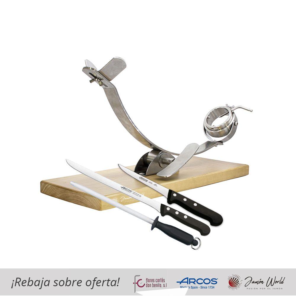 Conjunto corte de jamón 17932 con cuchillos Arcos de la Serie Universal
