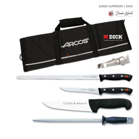 Juego de cuchillos y accesorios corte jamon Dick1