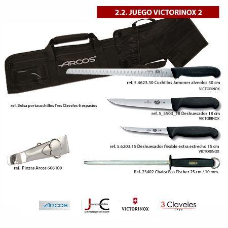 Juego cuchillos y accesorios corte de jamon VICTRORINOX 2