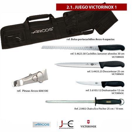 Juego de cuchillos y accesorios corte jamón VICTRORINOX 1