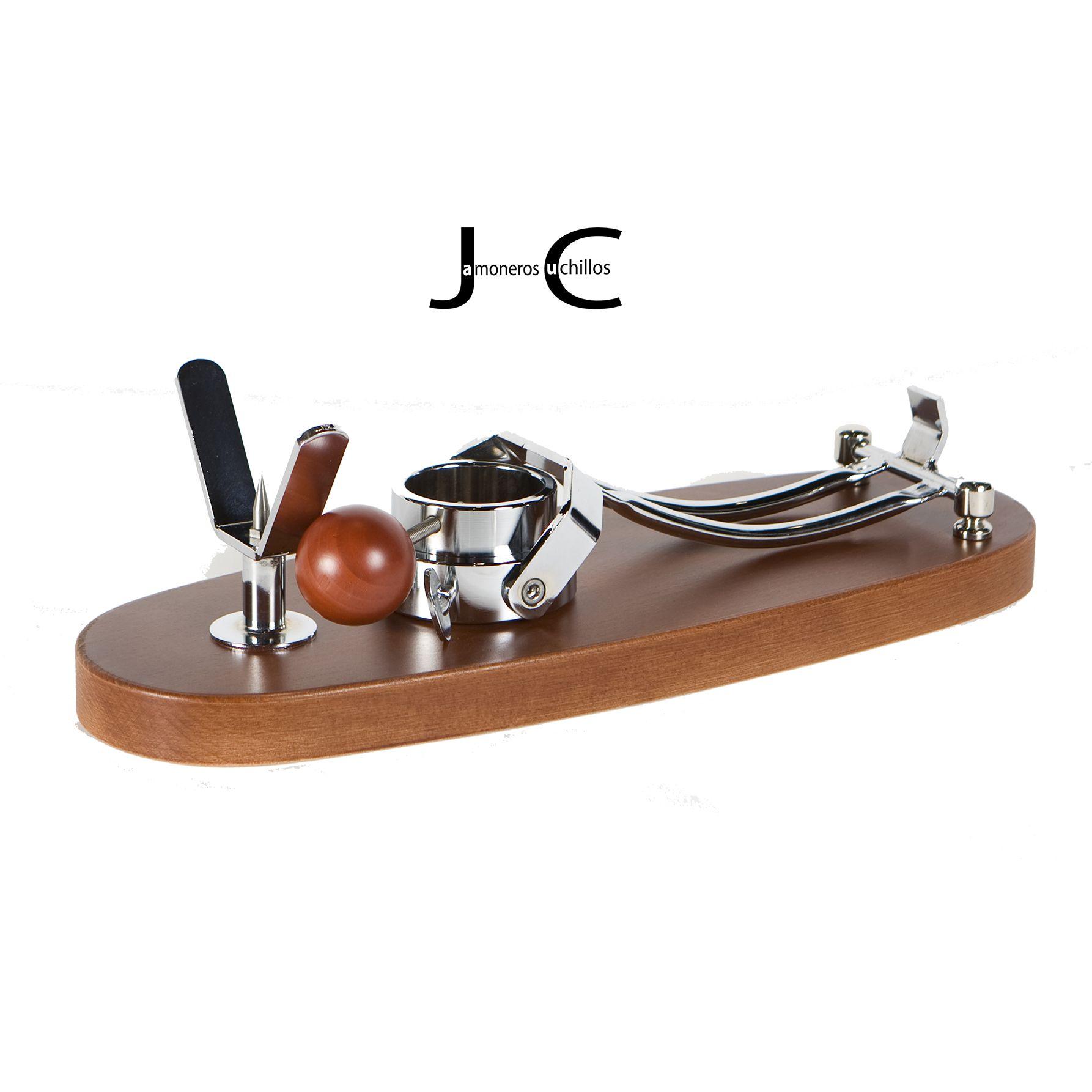 Jamonero Modelo Jabugo Plegable Haya lacado nogal (Plegado)