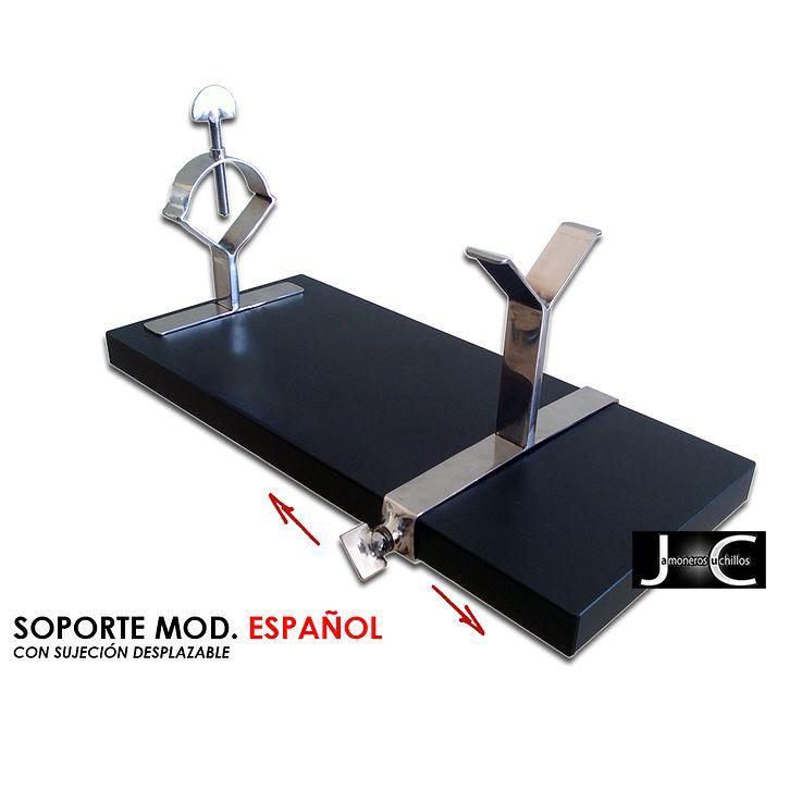 Soporte jamonero giratorio modelo Español de Virutas de Jamón
