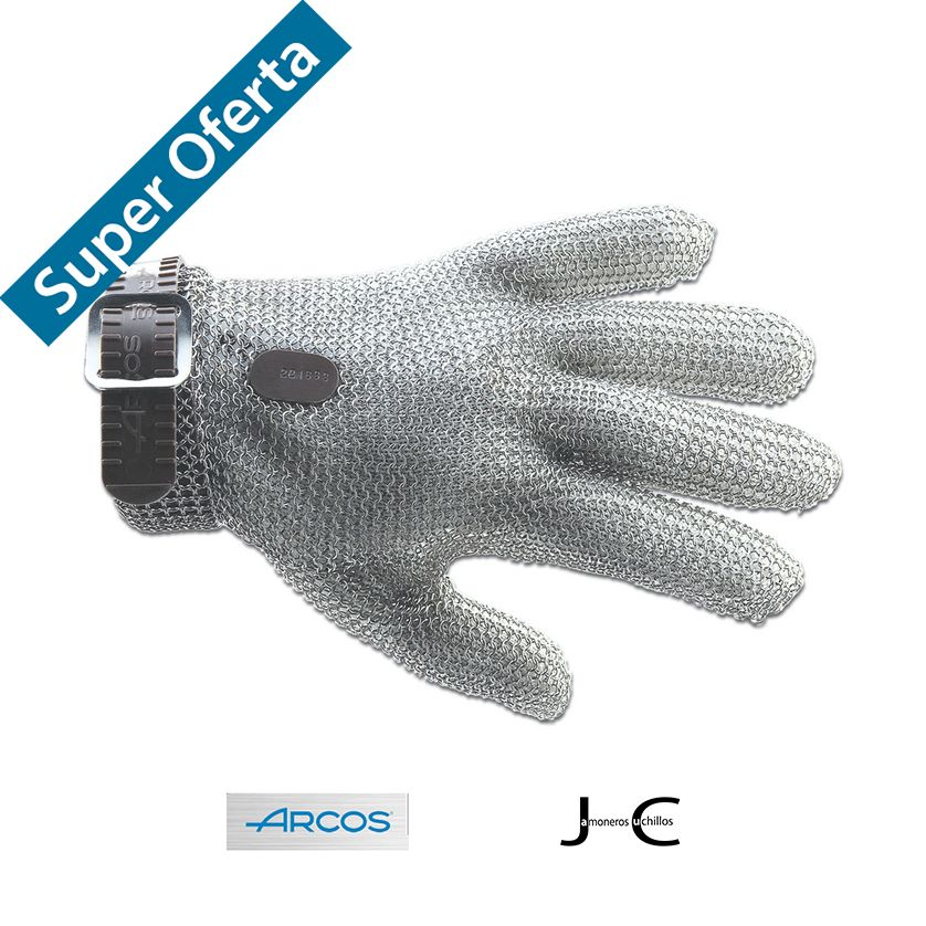 4 guantes de protección de acero inoxidable Acero diferentes tallas_615000