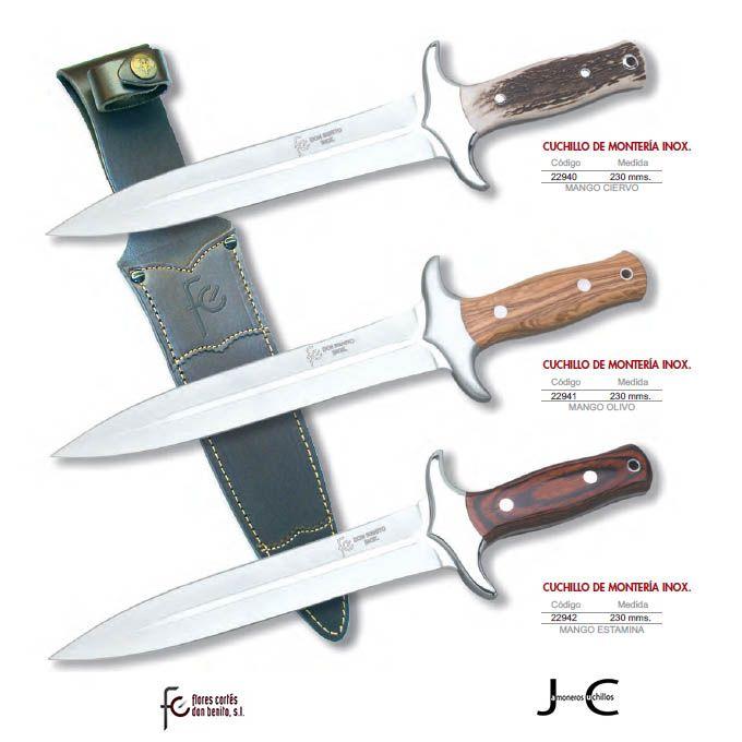 Cuchillos de montería caza Flores Cortés