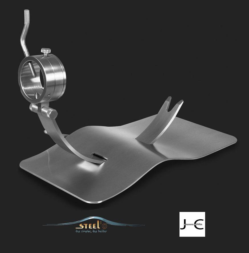 Jamonero de diseño giratorio y corredera MAVERICK-C steel