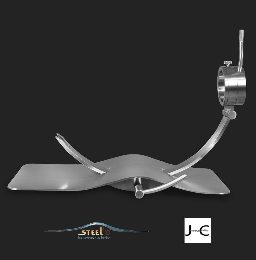 Jamonero de diseño giratorio y corredera MAVERICK-D steel
