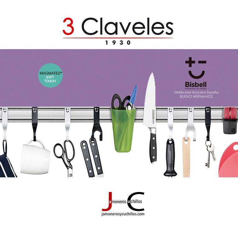 Soporte magnético cuchillos Tres Claveles