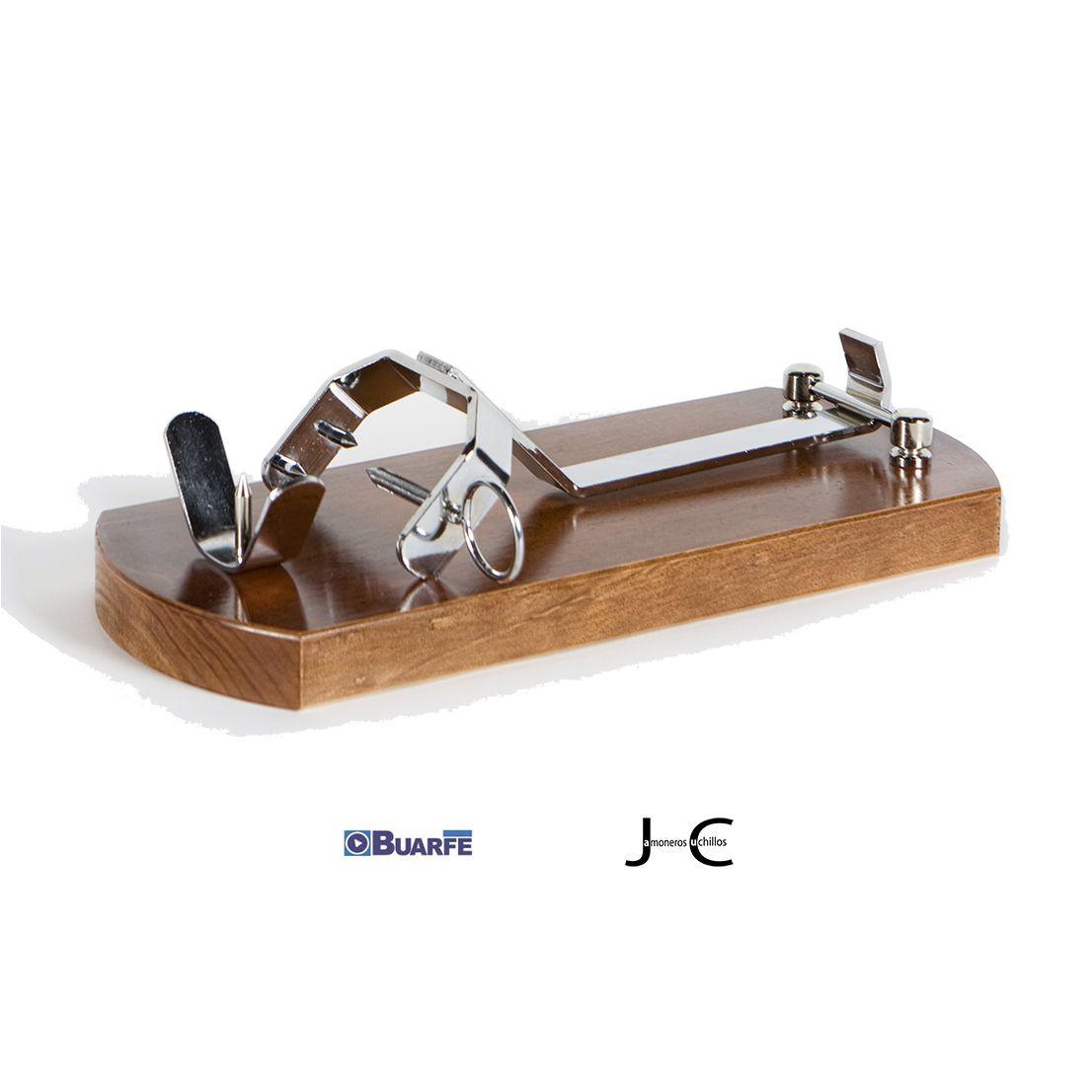 jamonero modelo plegable madera nogal