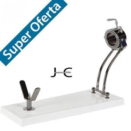 Jamonero giratorio Jabugo plegable roxton buarfe Blanco_Niquel negro