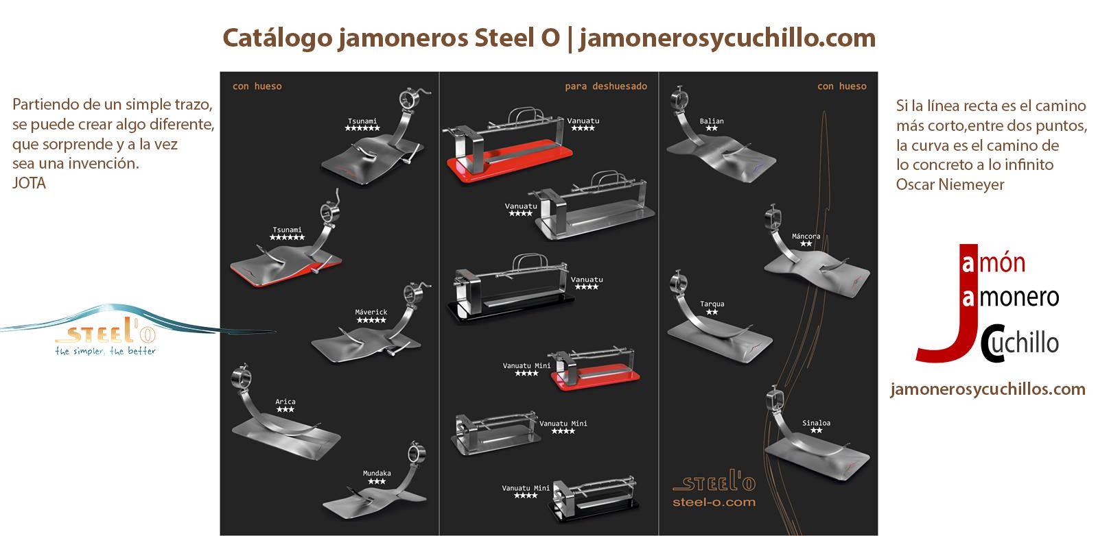 catalogo jamoneros steel o jamon jamoneros y cuchillos