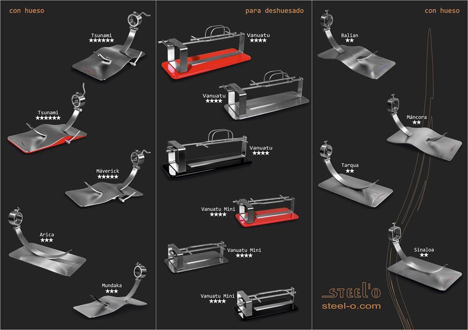 catalogo jamoneros steel o jamoneros y cuchillos