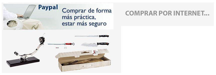 comprar un jamon comprar un jamonero o cuchillo online internet por paypal