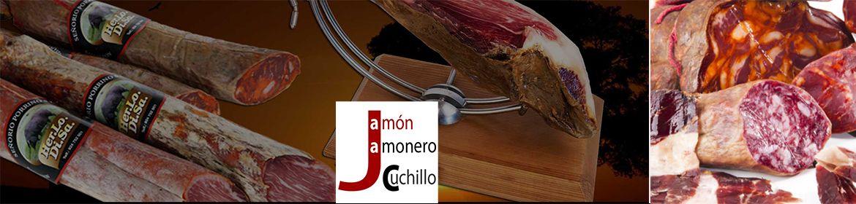 jamon iberico y embutidos de cerdo iberico de bellota dehesas de extremadura jamon jamonero cuchillo