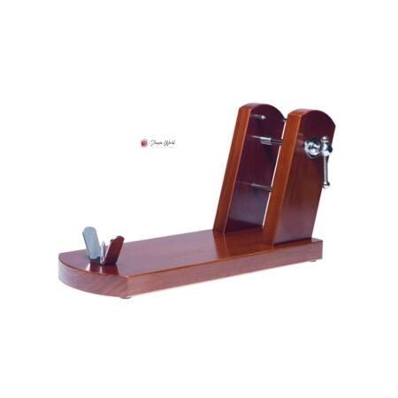soporte jamonero Buarfe rioja madera en nogal 8921 jamon jamonero cuchillo