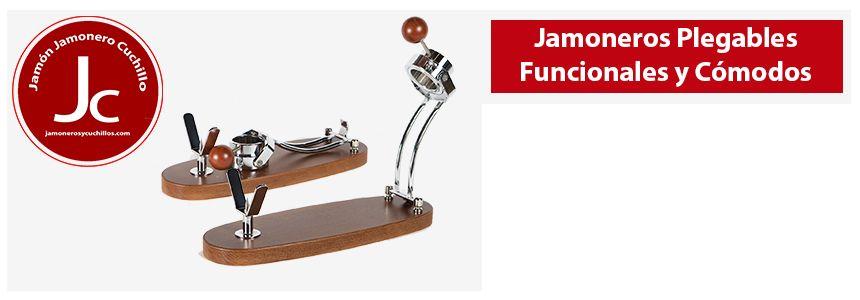 soporte jamonero plegable giratorio jamoenros y cuchillos