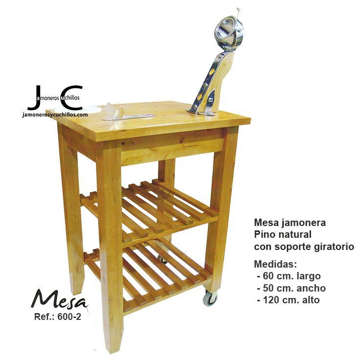 mesa jamonera modelo 600_2 madera pino jamoneros net jamon jamoneros y cuchillos