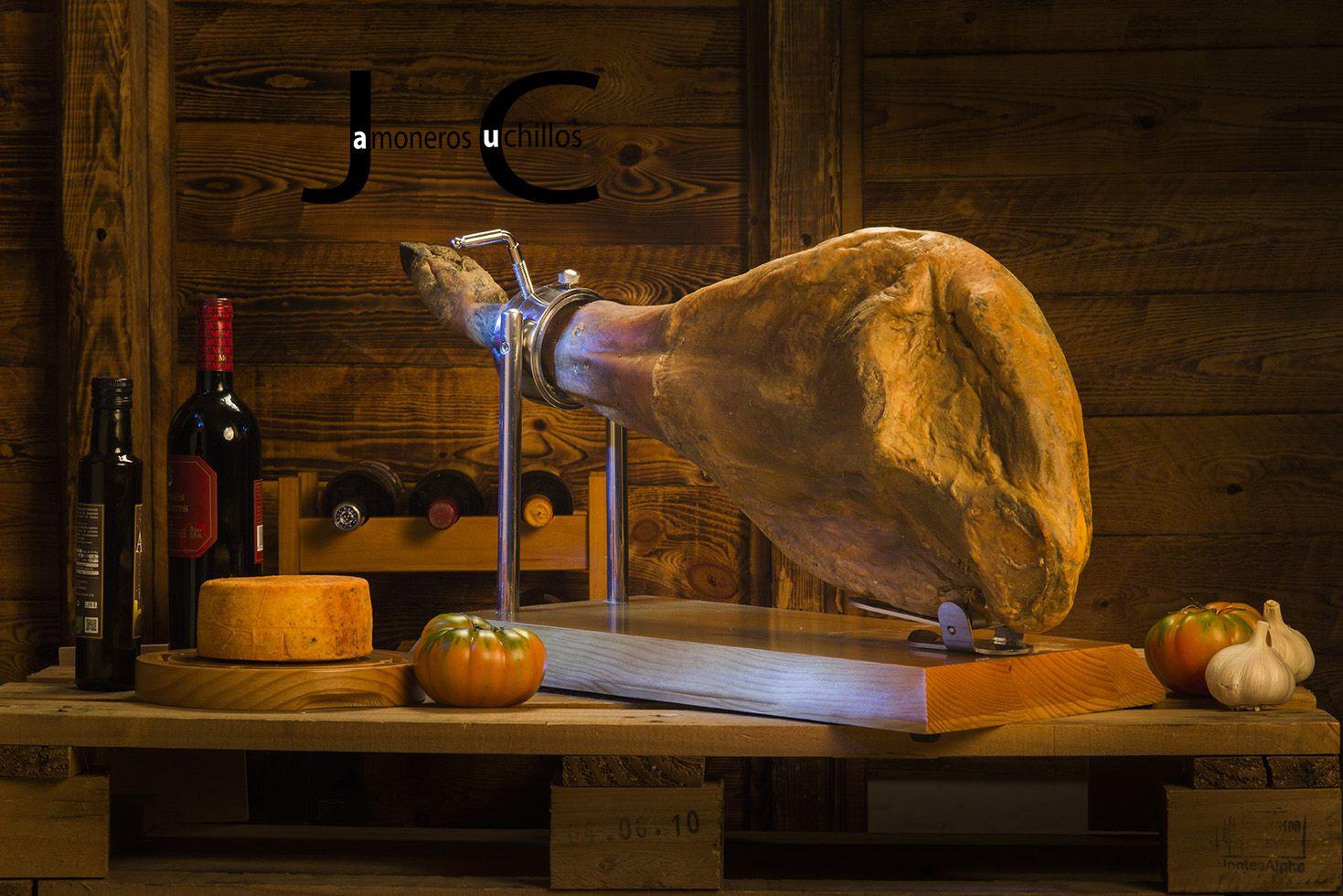Jamonero giratorio serie 5 madera jamoneros y cuchillos for Cuchillo descortezador