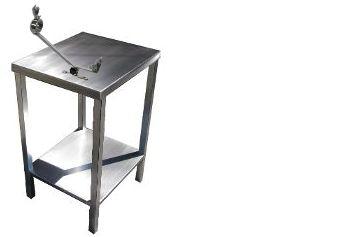 mesa jamonera de acero inoxidable