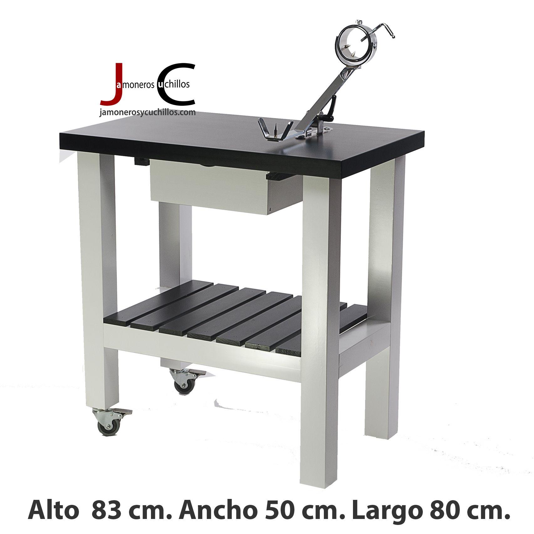 mesa jamonera lacada dos colores blanco y negro con jamonero balancin.jpg