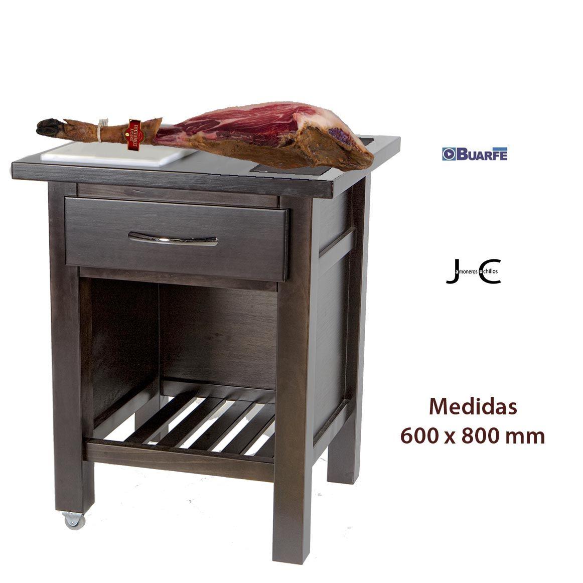Mesa jamonera profesional de 800x600 cm buarfe