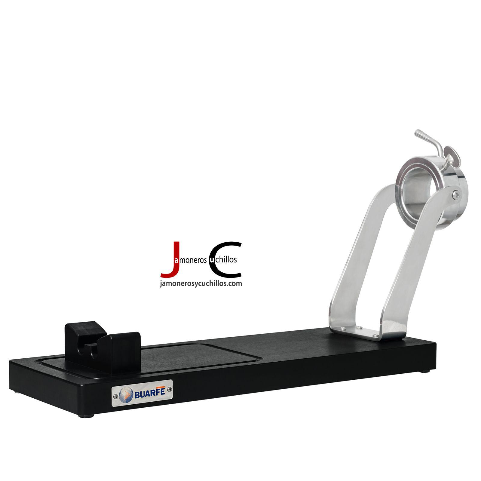 Jamonero ibérico inox. polietileno PE-500 negro ref 4329