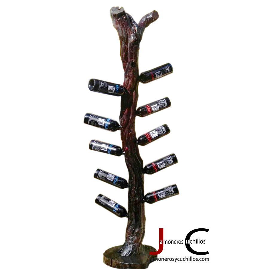 Botelleros botelleros de madera estantes botellas - Botellero de madera para vino ...
