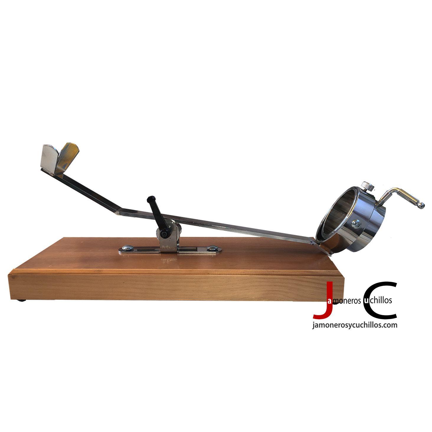 jamonero giratorio balancin madera en nogal A-9 c bello
