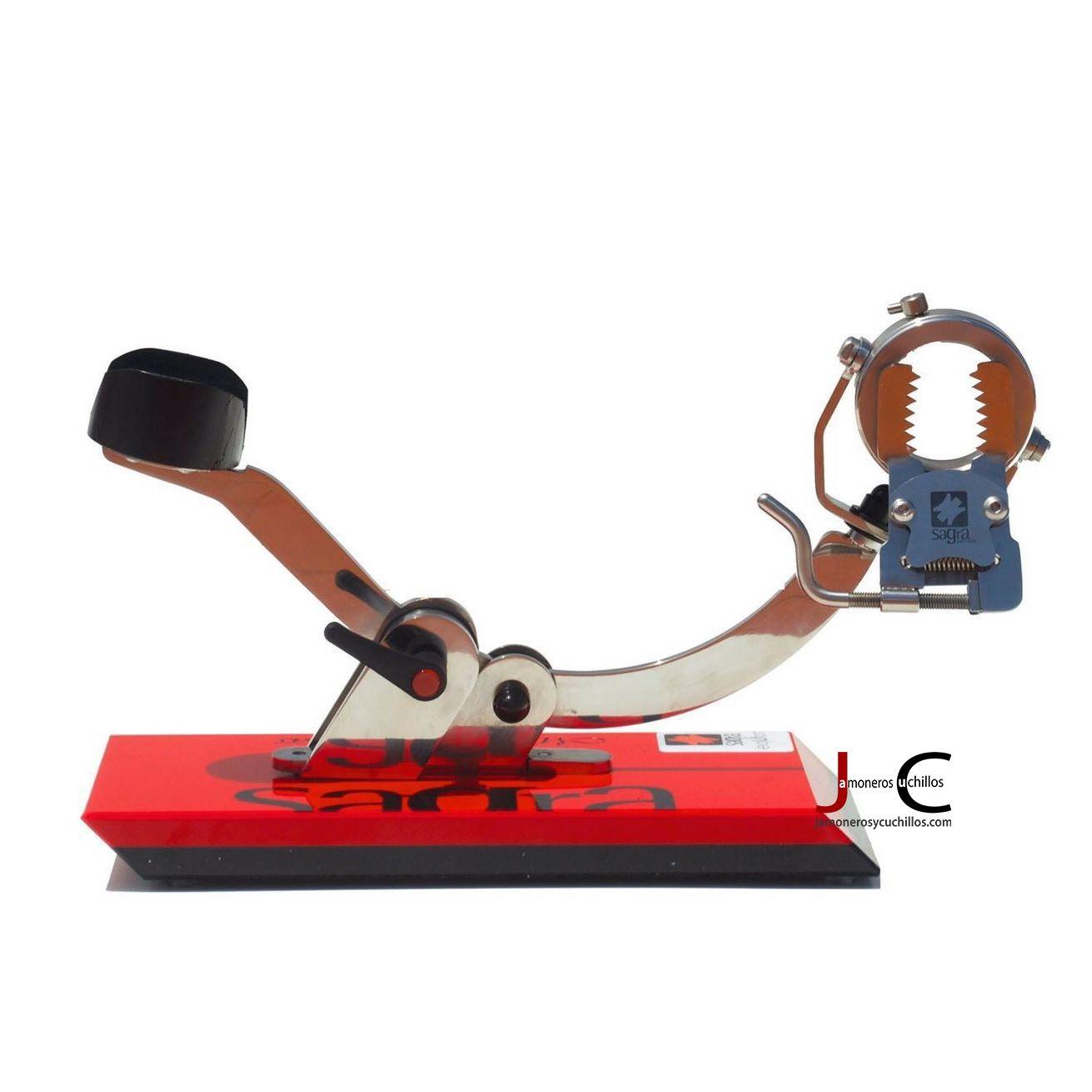 jamonero mandibular evolution sagra profesional e11 4cms rojo sobre negro