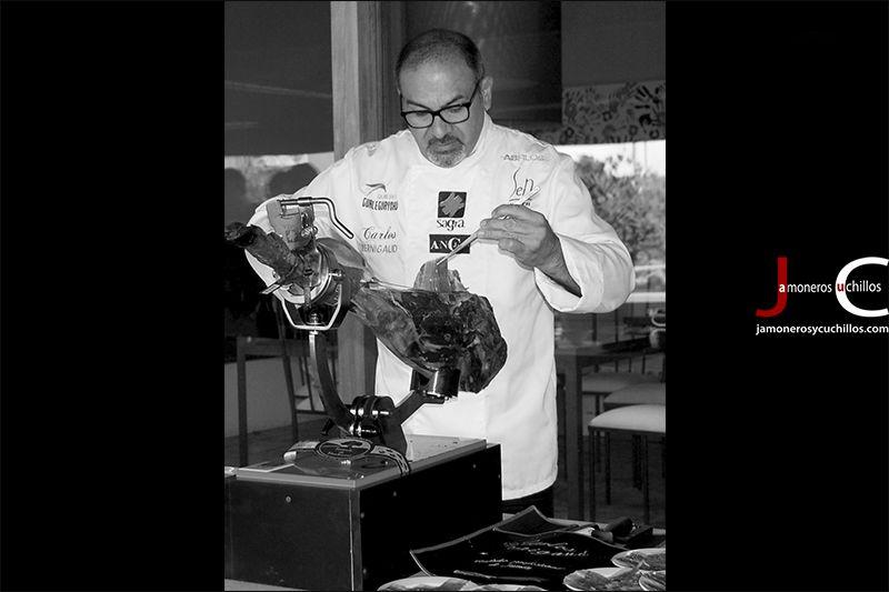 Carlos Bernigaud cortador jamón Barcelona