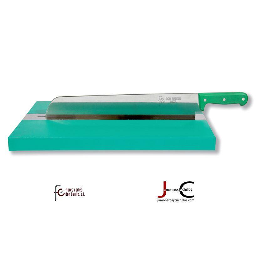 Cuchillo bacalao con soporte y tabla 22611