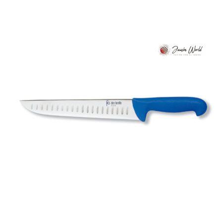 Cuchillo carnicero con alveolos 220 mms flores cortes 22576