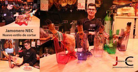 Jamonero NEC la nueva forma de cortar jamon y Jamonero y Cuchillos