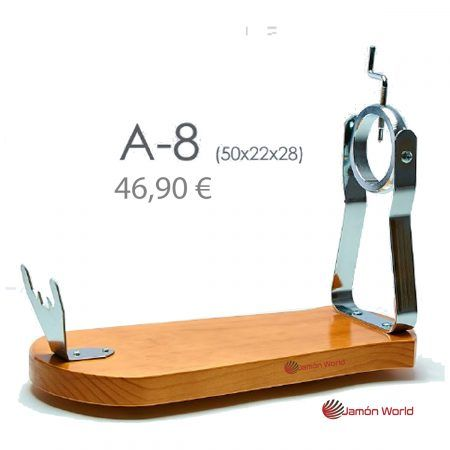 Jamonero Bello A8 madera jamon world