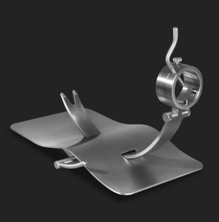 Jamonero de diseño giratorio y balancín MAVERICK Steel O
