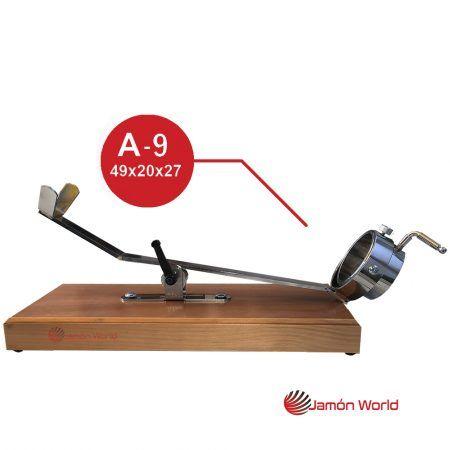 jamonero giratorio balancin madera en nogal A-9 bello