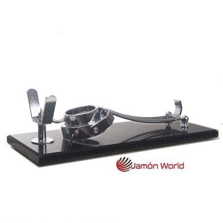 Jamonero plegado giratorio plegable negro silestone jamon world