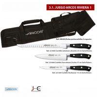 Juego cuchillos y accesorios para corte jamon con Arcos 3_1 Riviera 2