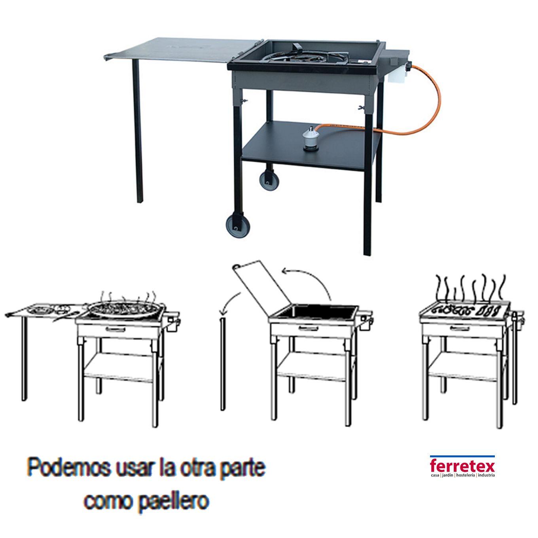 Paellero plancha plancha cocina mesa plancha cocina - Cocinas con plancha incorporada ...