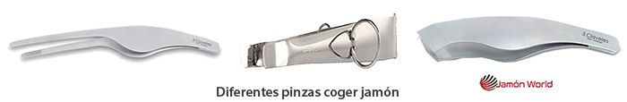 Pinzas coger jamon world