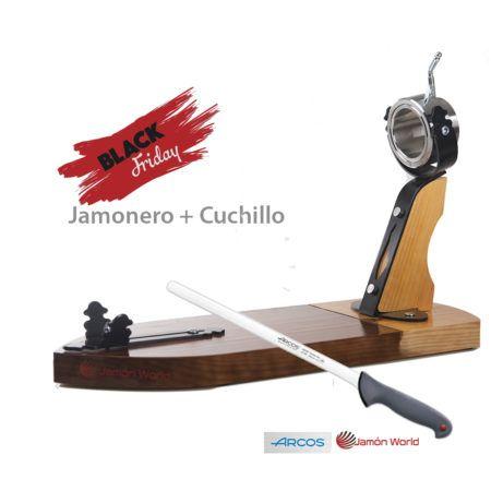 Jamonero Bellota y cuchillo black friday 2017 regalo