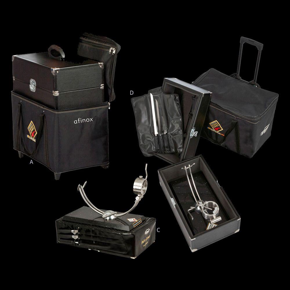 Conjunto maleta trolley jamonero Afinox