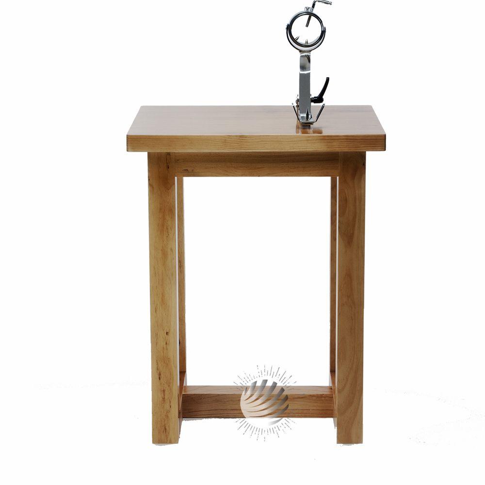 Mesa jamonera madera con jamonero giratorio balancin