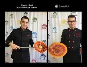 Alvaro y José cortadores de jamón ciudad real