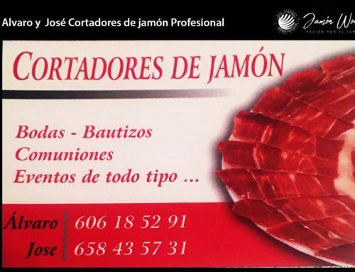 Álvaro y José Cortadores Jamón