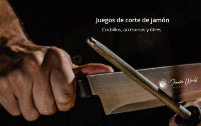 juegos de corte de jamón cuchillo y útiles Jamón World