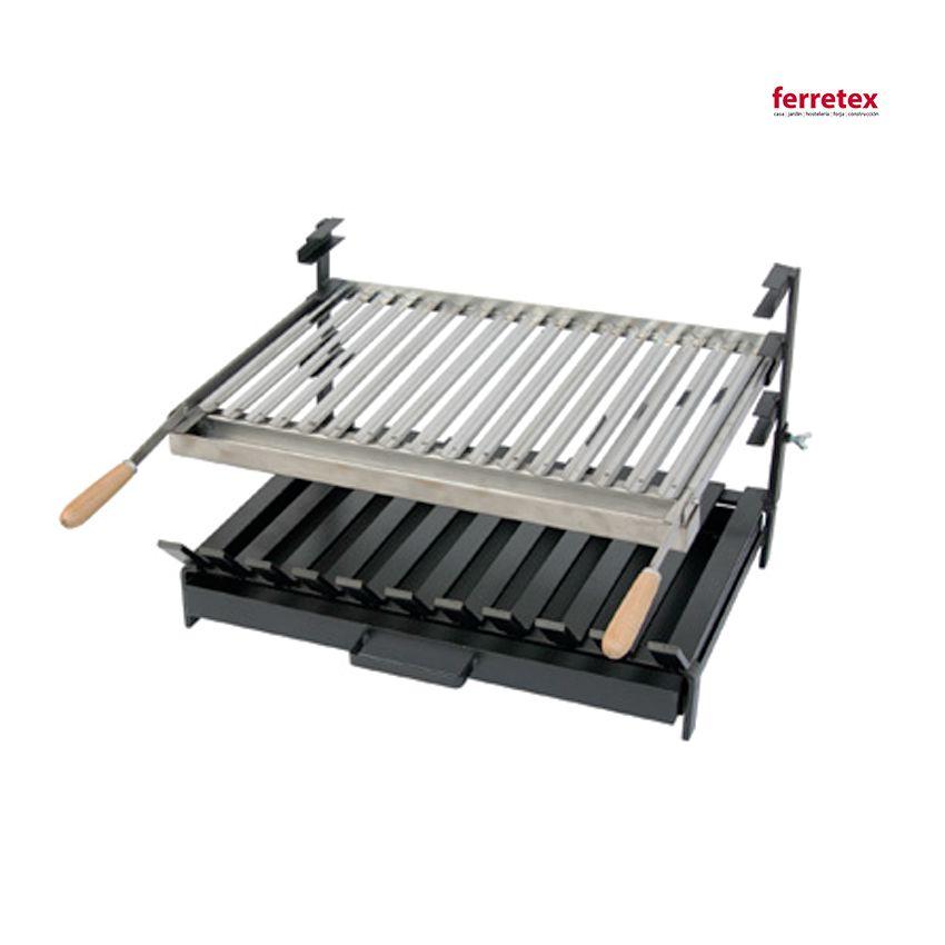 Parrilla asadora con cajón 500 por 450 mm 38916