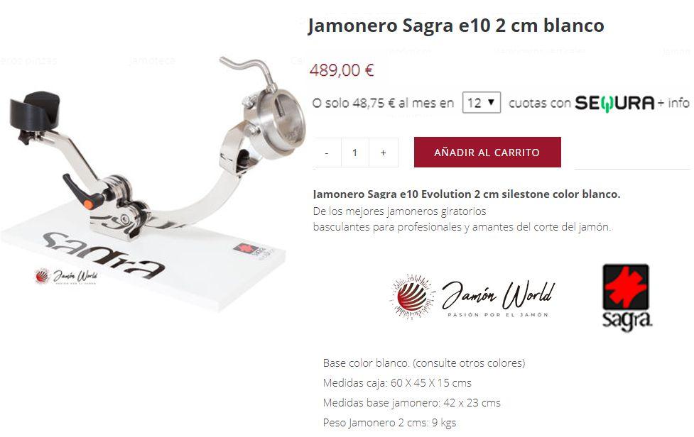 FRACCIONA PAGO JAMONERO SAGRA