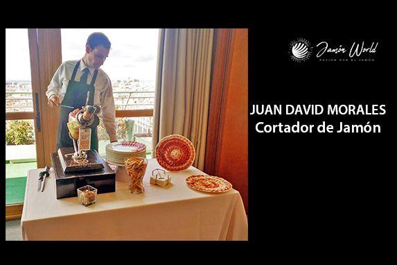 Juan David morales Cortador de Jamón profesional madrid