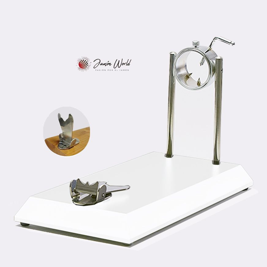 Jamonero Serie 5 bello giratorio madera blanca